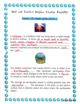 Changes to Earth's Surface Guided Notes and More! Grade 4 Scott Foresman Science