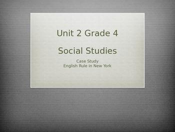 Grade 4 Social Studies Case Study for Unit 2 English Rule