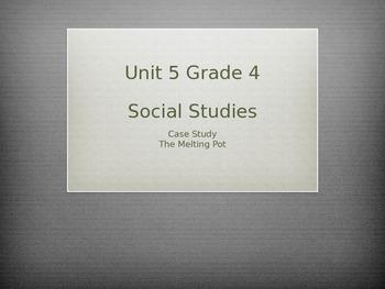 Grade 4 Social Studies Case Study for Unit 5 The Melting Pot