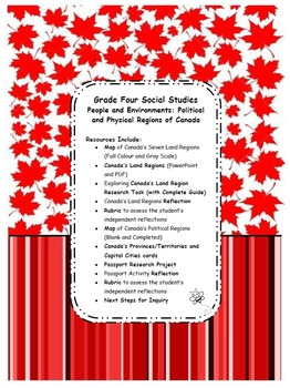 Grade 4 Social Studies Political and Physical Regions of Canada
