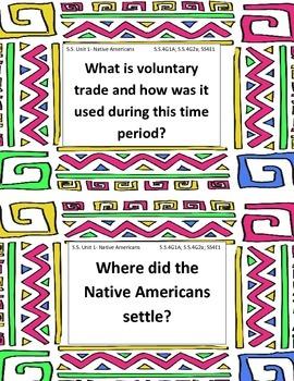 Grade 4 Social Studies Unit 1: Native Americans Essential Questions