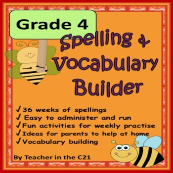 Grade 4 – Spelling and Vocabulary Builder {Activities for