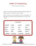 Grade 4 Spelling and Vocabulary-Week 2