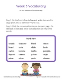 Grade 4 Spelling and Vocabulary-Week 3