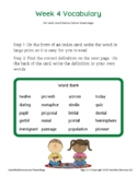 Grade 4 Spelling and Vocabulary-Week 4