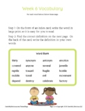 Grade 4 Spelling and Vocabulary-Week 6
