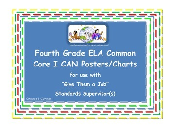 Grade 4 Standards Supervisor -Classroom Job Resources--Make it Match Your Needs