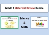 Grade 4 State Test Review Bundle (Math & Science State Tests)