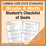 Grade 4 Student's 2-Page Checklist of Math Goals for CCSS