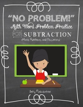 Grade 4 Subtraction (and Addition) Word Problems (No Prep RTI)