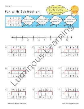 Grade 4 Subtraction Workbook: Making Math Visual