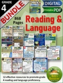 Grade 4 Top Five  Math, Reading, Spelling Practice Bundle
