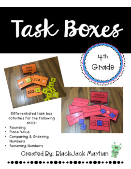 4th Grade Task Boxes - Place Value, Comparing Numbers, Renaming, and Rounding