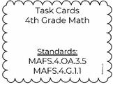 Grade 4 Task Cards Set 1