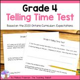 Grade 4 Telling Time Test