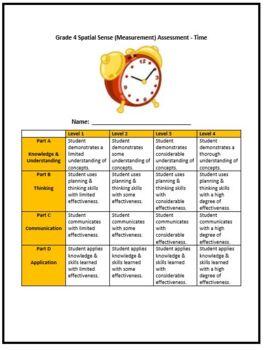 Grade 4 Time Test