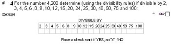 Grade 4 UNIT: DIVISIBILITY (4 worksheets & 7 quizzes)