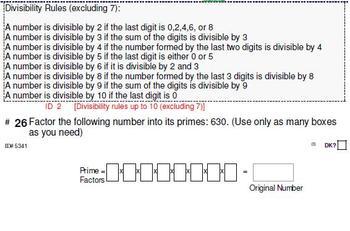 Grade 4 UNIT: Factors & Multiples (4 worksheets & 7 quizzes)