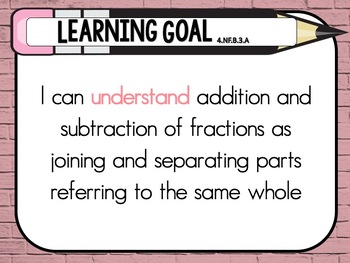 Grade 4 - USA Common Core Standards Mathematics - Learning Goals Posters
