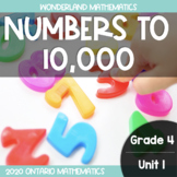 Grade 4, Unit 1: Numbers to 10,000 (Wonderland Math)