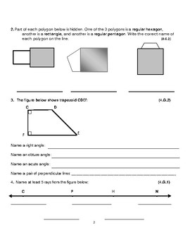 Grade 4 Unit 1: Standard Based Assessment geared towards Everyday Math Units