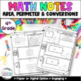 Grade 4- Unit 7 - Converting Measurements