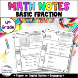 Grade 4- Unit 8- Fractions Guided Math Notes