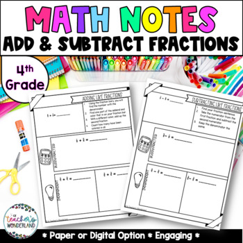 Grade 4- Unit 9- Adding & Subtracting Fractions
