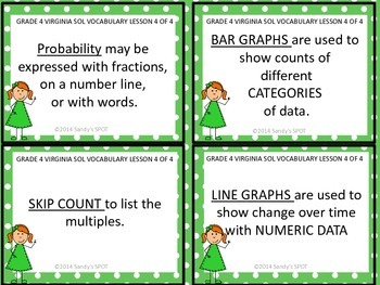 Grade 4 VIRGINIA SOL Math Review 4 of 4 PROPERTIES, LCM, GCF, & GRAPHS