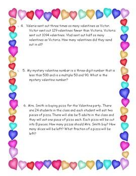 Grade 4 Valentine Math