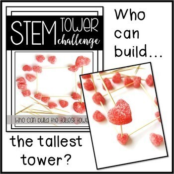 Grade 4 Valentine's Day Stations: STEM Activity, Memory Game, & Scavenger Hunt