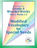 Grade 4 WonderWorks Unit 2 Weeks 1-5 Modified Vocabulary f
