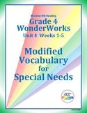 Grade 4 WonderWorks Unit 4 Weeks 1-5 Modified Vocabulary f