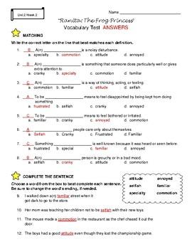 Grade 4 Wonders ELA McGraw Hill: Unit 2: Vocabulary Tests