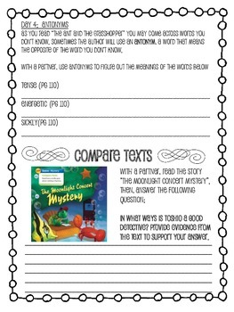 Grade 4 Wonders - Unit 2 Week 2 Skills Packet