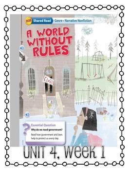 Grade 4 Wonders - Unit 4 Week 1 Skills Packet