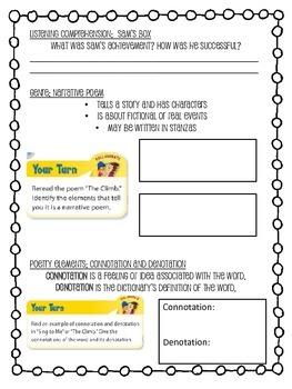 Grade 4 Wonders - Unit 4 Week 5 Skills Packet