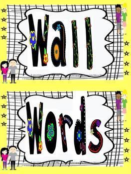 Grade 4 Word Wall Words - Cool Kids Theme