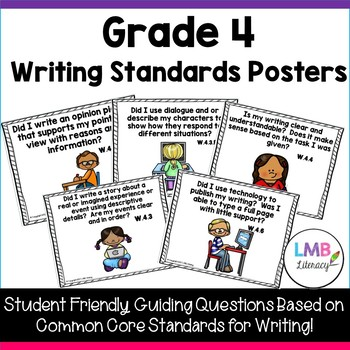Grade 4 Writing Standards Posters! Use for bulletin boards and focus walls!