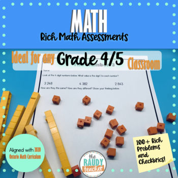 Grade 4 and 5 Math Problems Ontario Curriculum BUNDLE