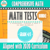 Grade 4 and 5 Ontario Math Tests SPIRALLED BUNDLE
