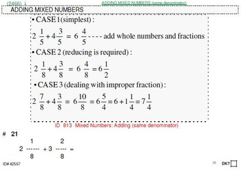 Grade 4 FRACTIONS UNIT 5: [ADD,SUBTRACT mixed nos.] (4 wor