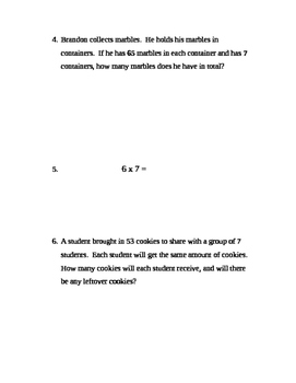 FREE-Grade 4 multiplication, division, fractions, decimals assessment