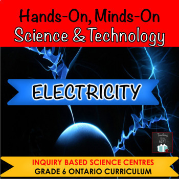 ONTARIO SCIENCE:GRADES 5/6 CONSERVATION OF ENERGY & ELECTRICITY CENTRES BUNDLE