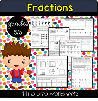 Grade 5 & 6 Fraction Unit