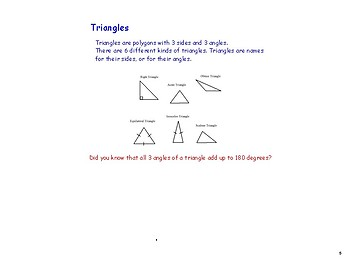Grade 5/6 Geometry Lesson Slides: Intro to Polygons