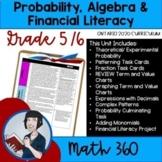 Grade 5/6 Math Algebra, Probability Unit 8 (Ontario Math Curriculum 2020)