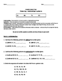 Grade 5-6 Math Test (Relationships in Patterns) Bundle