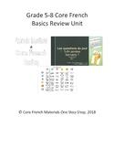 Grade 5-8 Core French Basics Review Unit Bundle