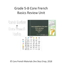 Grade 5-8 Core French Basics Review Unit Bundle